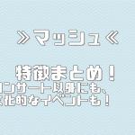 ≫マッシュ≪ 特徴まとめ!【イベント・コンサートスタッフ 派遣バイト】